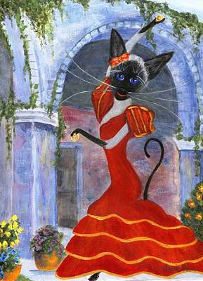 Painting - Siamese Queen Of Spain by Jamie Frier