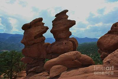 Photograph - Siamese Twins Garden Of The Gods Colorado by Robert D  Brozek