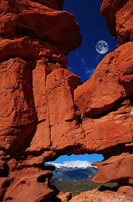 Siamese Twins Rock Formation At Garden Of The Gods Art Print