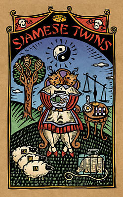 Siamese Twins Art Print by Sue Todd