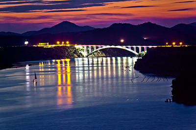 Photograph - Sibenik Bay Bridge Dusk View by Brch Photography