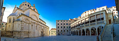 Photograph - Sibenik Unesco Cathedral Square Panorama by Brch Photography