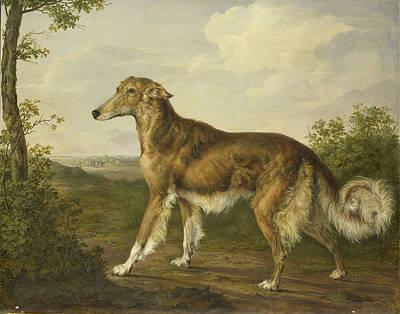 Siberian Greyhound, Jan Dasveldt Art Print