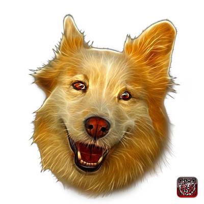 Painting - Siberian Husky Mix Dog Pop Art - 5060 Wb by James Ahn