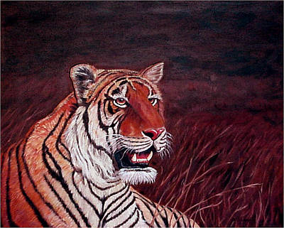 Painting - Siberian Tiger by Fran Brooks