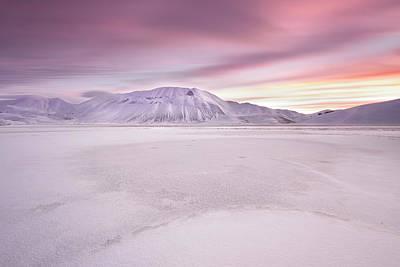 Frost Photograph - Sibillini National Park - Sunrise by Roberto Marchegiani