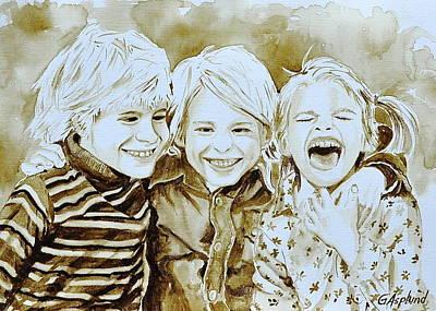 Siblings Fun Art Print