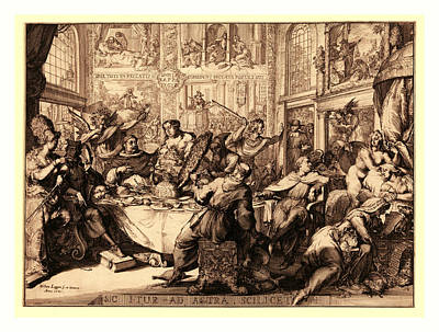 Sic Itur Ad Astra Scilicet, Hooghe, Romeyn De Art Print by Litz Collection