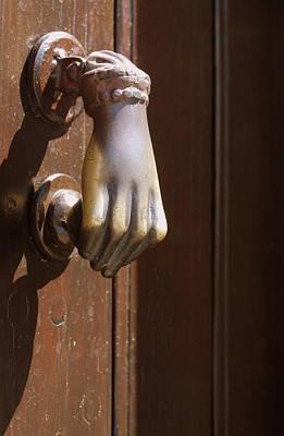 Photograph - Sicilian Door Knocker by Caroline Stella