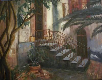 Sicilian Nunnery Art Print by Donna Tuten