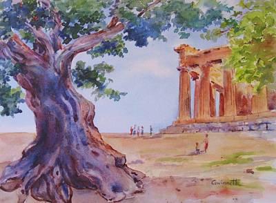 Painting - Sicilian Olive Tree Agrigento by Kathleen  Gwinnett