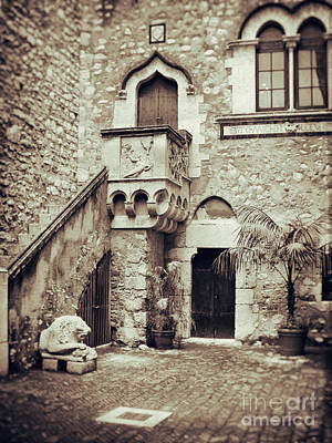 Photograph - Sicilian Palace Courtyard by Silvia Ganora