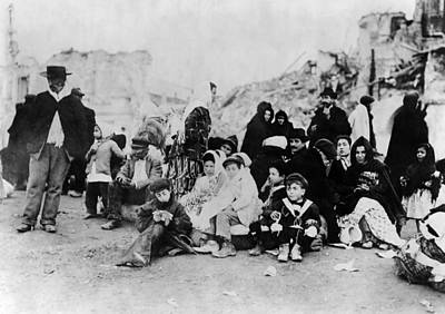Sicily Refugees, C1909 Art Print by Granger