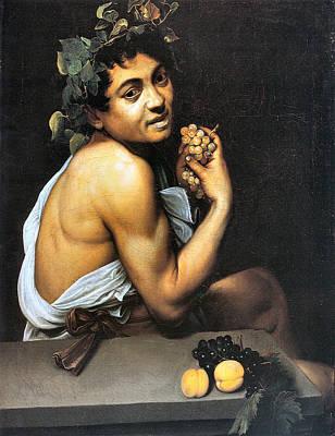 Sick Bacchus  Art Print by Michelangelo Merisi da Caravaggio