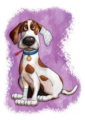 Puppy Digital Art - Sick Puppy by Gary Bodnar