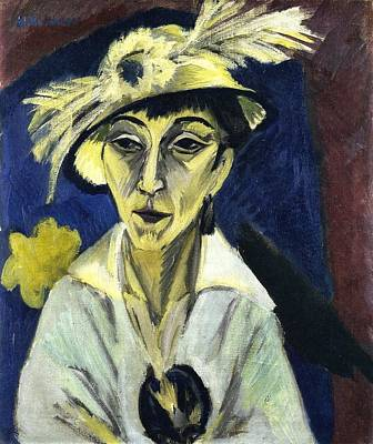 Berlin Germany Painting - Sick Woman by Ernst Ludwig Kirchner