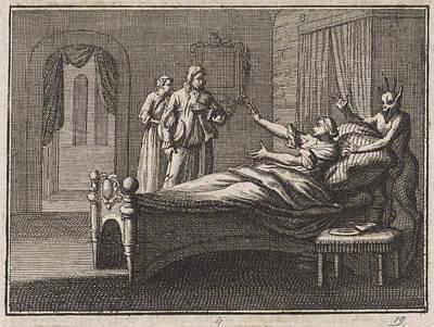 Sick Woman Receives Her Lover, Caspar Luyken Art Print