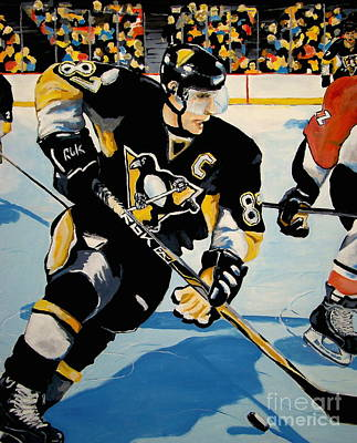 Hockey Art Painting - Sid The Kid by Philip Kram