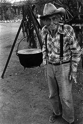 Fall Animals - Sid Wilson stew pot Pick Em Up Ranch Tombstone Arizona 1980  by David Lee Guss