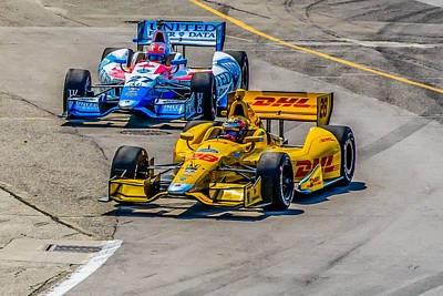James Hinchcliffe Photograph - Side By Side by Andy Glavac