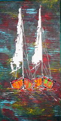Painting - Side By Side - Sold by George Riney