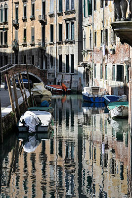 Photograph - Side Canal Venice by Bill Mock