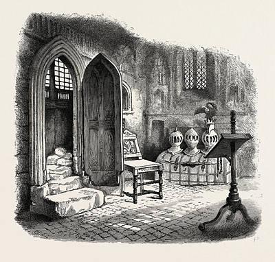 Side Chapel In Warwick Church, Uk, Britain Print by English School