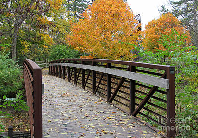 Firefighter Patents Royalty Free Images - Side Cut Park Bridge Royalty-Free Image by Jack Schultz