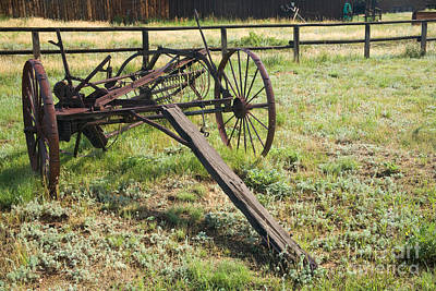 Photograph - Side Delivery Rake At The Macgregor Ranch by Fred Stearns