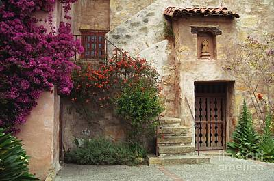 Photograph - Side Door Of The Carmel Mission by James B Toy