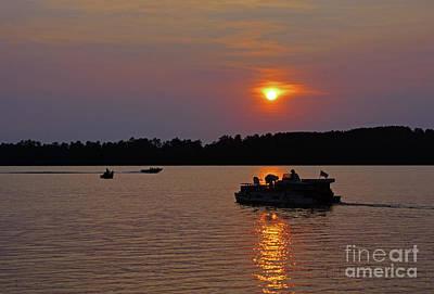 Side Lake Mn Sunset  Art Print
