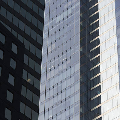 Side Of An Office Towers With Glass Art Print by Keith Levit