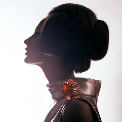 Photograph - Side Profile Of A Model by Bert Stern