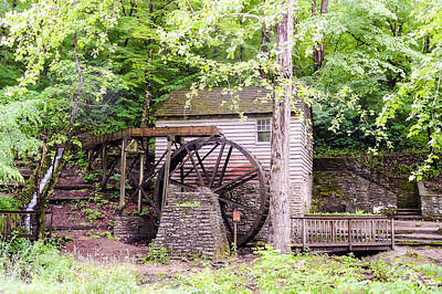 Side View Of Rice Grist Mill Norris Dam State Park Tennessee Art Print by Cynthia Woods