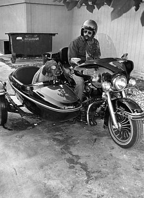 Trash Can Photograph - Sidecar Rebel Dog by Retro Images Archive