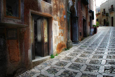 Erice Photograph - Sidestreet In Erice by Mike Nellums