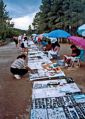 Photograph - Sidewalk Art Sale In Sedona 1993 by Connie Fox