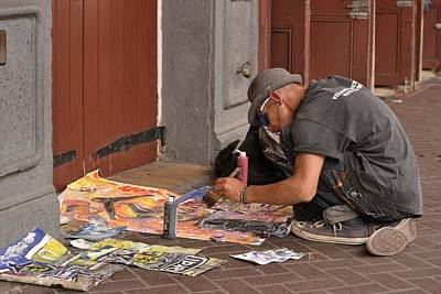Photograph - Sidewalk Artist by Nadalyn Larsen