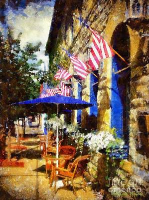 Photograph - Sidewalk Cafe by Janine Riley