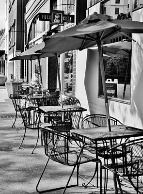 Photograph - Sidewalk Cafe by VLee Watson
