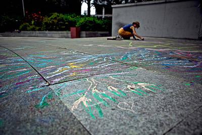 Sidewalk Chalk Original by Noel Marcantel