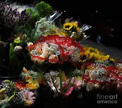 Art Print featuring the photograph Sidewalk Flower Shop by Lilliana Mendez