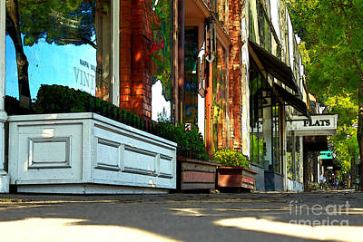 Photograph - Sidewalk In Saint Helena by James Eddy