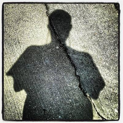 New Orleans Photograph - Sidewalk Self-portrait New Orleans by Glen Abbott
