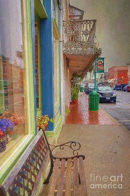 Sidewalk Shot Weston Missouri Art Print by Liane Wright