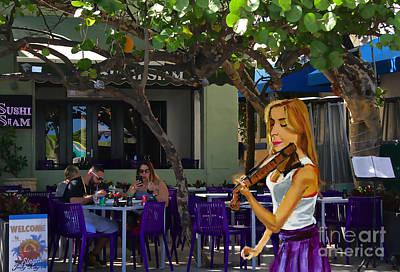 Painting - Sidewalk Violinist by Judy Kay