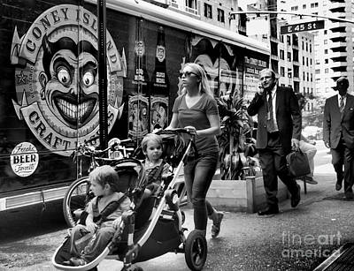 Photograph - Sidewalks Of New York - Beer Truck by Miriam Danar