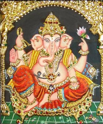 Painting - Sidha Ganapathi by Jayashree
