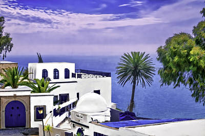 Photograph - Sidi Bou Said Restaurant  by Maria Coulson