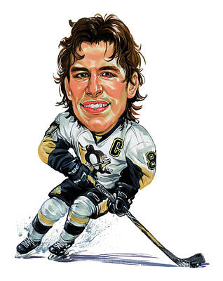 Hockey Player Painting - Sidney Crosby by Art